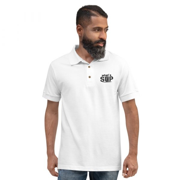 """Besticktes Polo-Shirt """"whats SUP"""""""